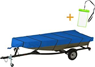 NEXCOVER Jon Boat Cover£¬Marine Grade Waterproof Heavy Duty 300D Jon Boat Covers, Fits 12ft Length, Beam Width to 56'' Boats, Including Waterproof Phone Case