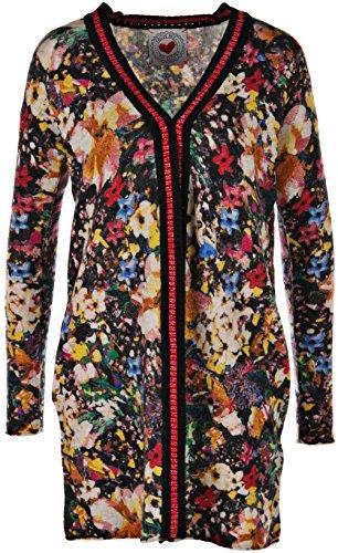 """FROGBOX Strickmantel """"Blumen"""" Multicolor-44"""