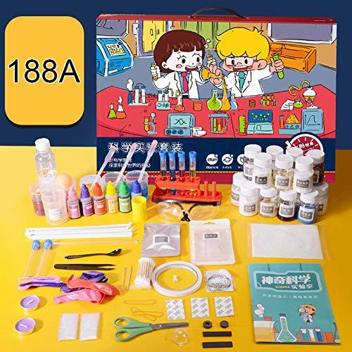 Kit de ciencia para niños DIY Science Experiments Set con gafas de protección y caja de almacenamiento, primeros experimentos, kit de ciencia para niños,