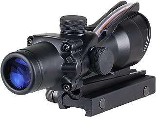Acog 4x32 Red Fiber Scope Dual Illuminated Dot .223 Ballistic Reticle Rifle Scope