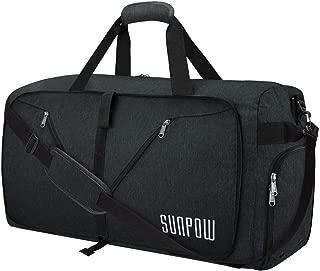85L Travel Duffel Bag, Large Weekender Bag With Shoes Compartment Tear Resistant Packable Duffle Bag For Men Women Black
