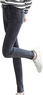 Baifeng Womens Winter Jeans Thick Skinny Pants Fleece Lined Slim Stretch Warm Jeggings Thick Thermal Jeans