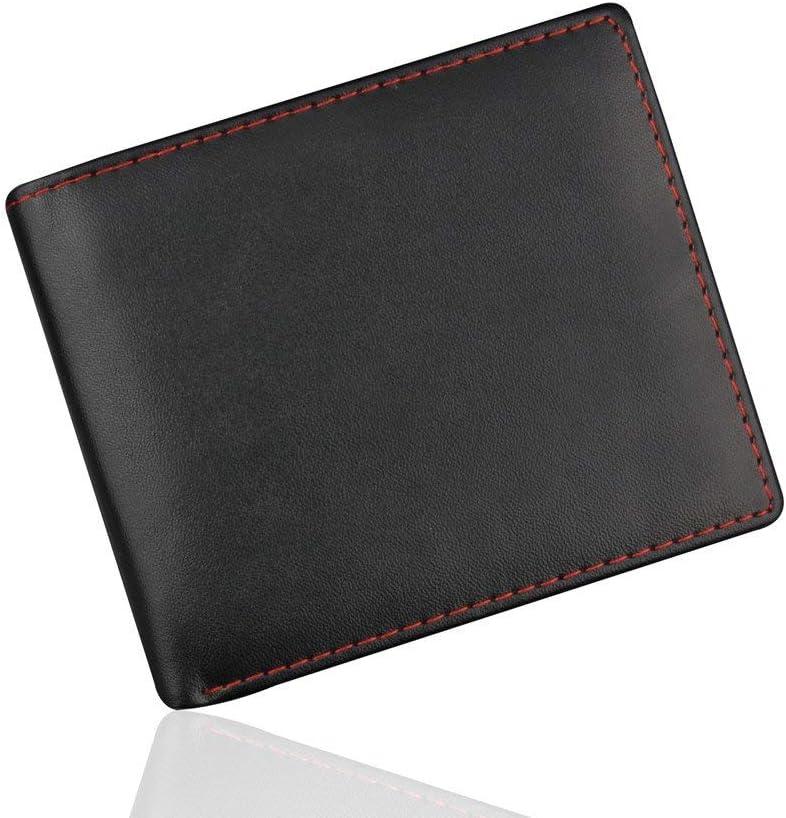 Silkrain Men Pocket Wallet Card Case Business Leather Wallet ID Credit Card Holder Purse Pockets (Black, Dimensions: 119.51.5/4.33.70.6