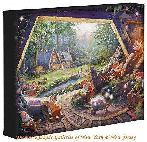 Thomas Kinkade Studios Snow White and the Seven Dwarfs 8 x 10 Gallery Wrapped Canvas