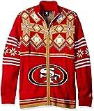 San Francisco 49ers Split Logo Ugly Sweater Jacket Medium