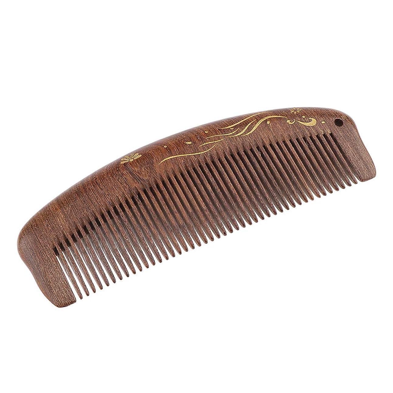 高めるメロディアス上院B Blesiya 帯電防止櫛 ウッドコーム ヘアサロン ヘアブラシ 3仕様選べ - 細かい歯