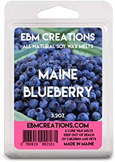 EBM Creations Maine Blueberry Scented All Natural Soy Wax Melts - 6 Pack Clamshell 3.2oz