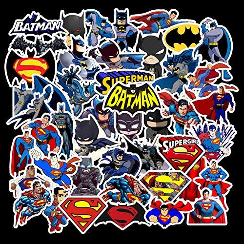 WYZNB Batman Dark Knight Superman Maleta Maleta Maleta Maleta Portátil Patín Guitarra Graffiti no repetir 45pcs