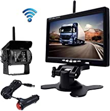 """$69 » Eversecu Waterproof Wireless Backup Camera and 7"""" HD LCD Monitor Kit for RV/SUV/Van/Pickup/Truck/Trailer Rear/Side/Front View System Switchable"""