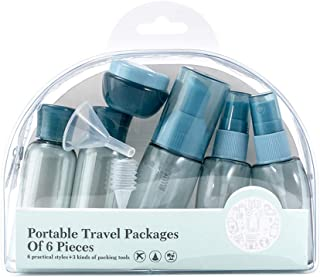 Goolfly 9 Pcs Travel Bottle Set Travel Size Containers Toiletry Bottles Travel Bottles with Refill Accessories Leak Proof ...