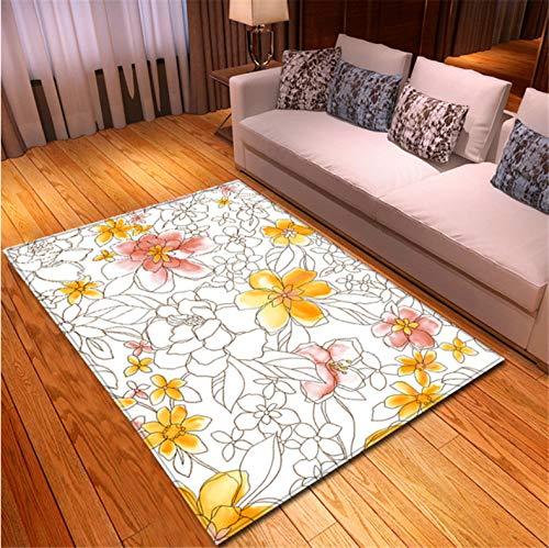 chengcheng Nordic Style 3D Florals Teppich Flanell Memory Foam Weiche Teppiche Schlafzimmermatten Bodenteppiche Pastorale Teppiche Für Wohnzimmer 200X280CM