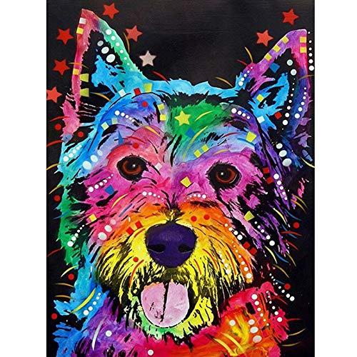 DIY 5D pintura de diamante colorido Animal León gato Kit de punto de cruz bordado mosaico arte imagen decoración del hogar regalo A18 30x40cm