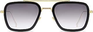 Retro Aviator Square Sunglasses for Men Women Goggle Classic Alloy Frame Gradient Flat Lens HERO SJ1126