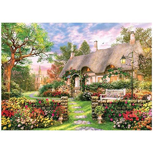 Puzzle 1000 Teile ländlich Puzzle für Erwachsene Kinder,Impossible Puzzle,Geschicklichkeitsspiel für die ganze Familie,Farbenfrohes Legespiel,Papier Große Puzzle,70 x 50 cm / 27.56 x 19.69 inch