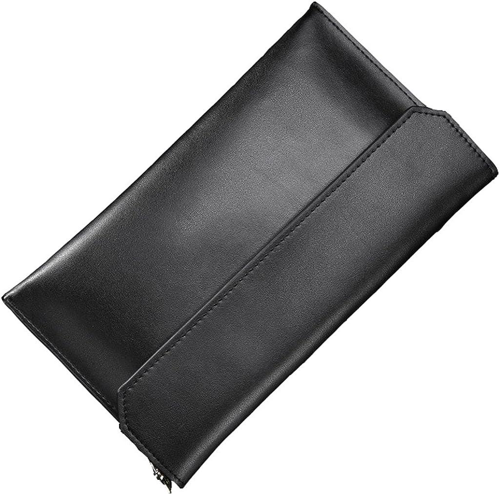 Portland Mall Japan Maker New Covelin Women's Wristlet Clutch Handbag Leather Genuine Envelope