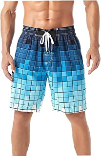 Yililay Men Beach Shorts Swimming Trunks Quick Dry Swim Suits for Board Bathing Casual Surfing Pants with Pocket XL