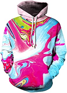 3D Print Hoodies Men's 3D Printed Hoodie Hooded Loose Long Sleeve Sweatershirt Denim Jacket