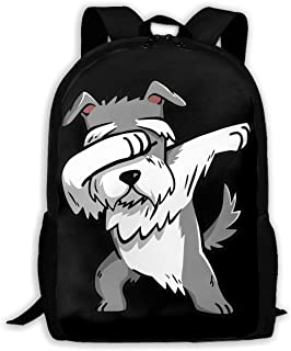 Dabbing Schnauzer Funny Fashion Travel Backpacks Durable Backpacks Laptop Backpack Shoulder Bags for Men/Women