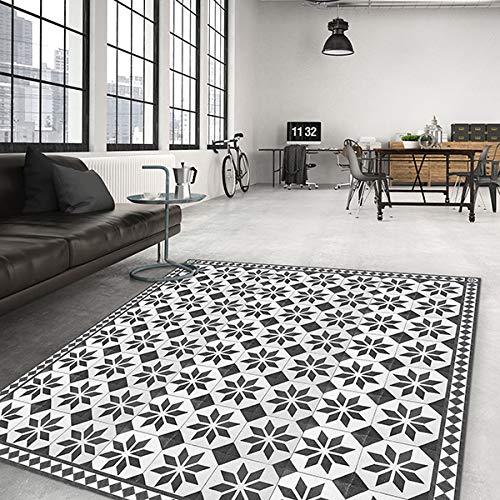 Tapis Salon antidérapant Old Style Carpet - 100x150 Tapis de Protection de Sol en Vinyle 100% fabriqué en Italie, avec Encre Non Toxique, Ignifuge et résistant à l