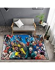 CXJC My Hero Academy Dibujos animados Alfombra, Estera antideslizante suave y cómoda junto a la cama de la habitación, estera de dibujos animados 2-dimensional