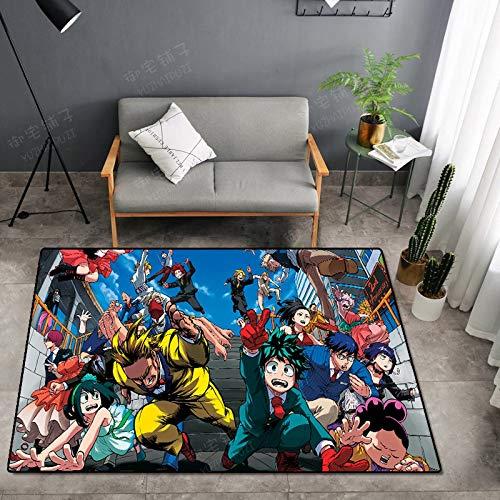 CXJC My Hero Academy Dibujos animados Alfombra, Estera antideslizante suave y cómoda junto a la cama de la habitación, estera de dibujos animados 2-dimensional (Color : C)