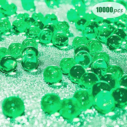 Eyscoco Wasserperlen, 10000 Stück Vase Füller Perlen Edelsteine Wassergel Perlen Wachsende Kristallperlen Hochzeit Herzstück Dekoration (Grün)
