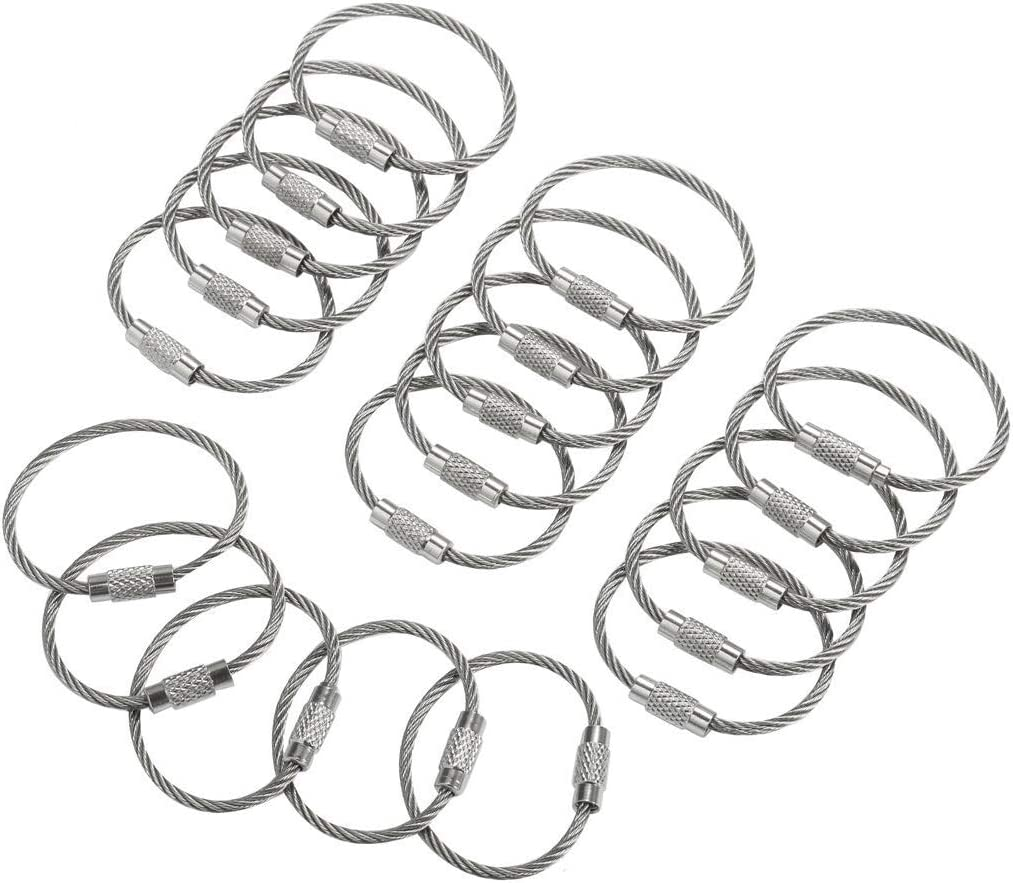 lowest price bayite Stainless Steel Wire Keychains Luggag Key Cable Rings 2mm Ranking TOP11