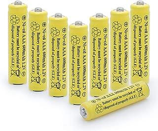 QBLPOWER NiCd AAA 1.2V 600mAh Triple A Rechargeable Batteries for Outdoor Solar Lights Solar Lamp Garden Light (8 Pack)