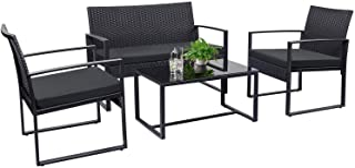 Tuoze 4 Pieces Patio Furniture Set Outdoor Patio...