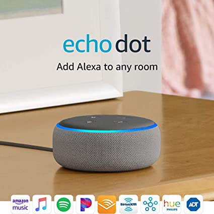 Certified Refurbished Echo Dot (3rd Gen) - Smart speaker with Alexa - Heather Gray