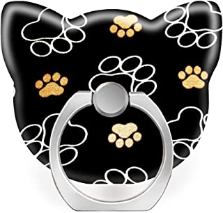 360 Degree Finger Stand Cell Phone Ring Holder Car Mount with Hook for Smartphone-Dog Puppy paw Prints Gifts for Dog Lovers