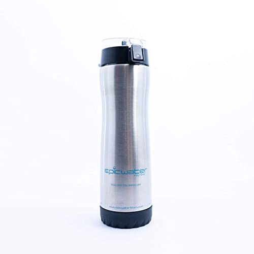 9bb6af9912 Epic Water Filters Outback Bottle - Stainless Steel | Without BPA | Removes  Fluoride, Lead
