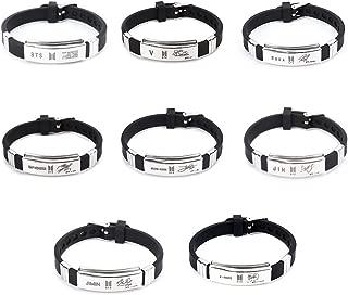 Bosunshine Kpop BTS Bangtan Boys Wristband Bracelet Hot Gift for A.R.M.Y
