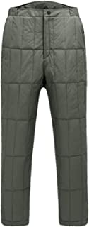 Mens Windproof Waterproof Insulated Ski Snow Pants Utility Down Trousers