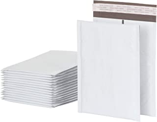 Quality Park Bubble Mailers, 6 x 9 Shipping Envelopes, Water Resistant White Poly Padded Envelopes, Redi-Strip Peel Off Cl...