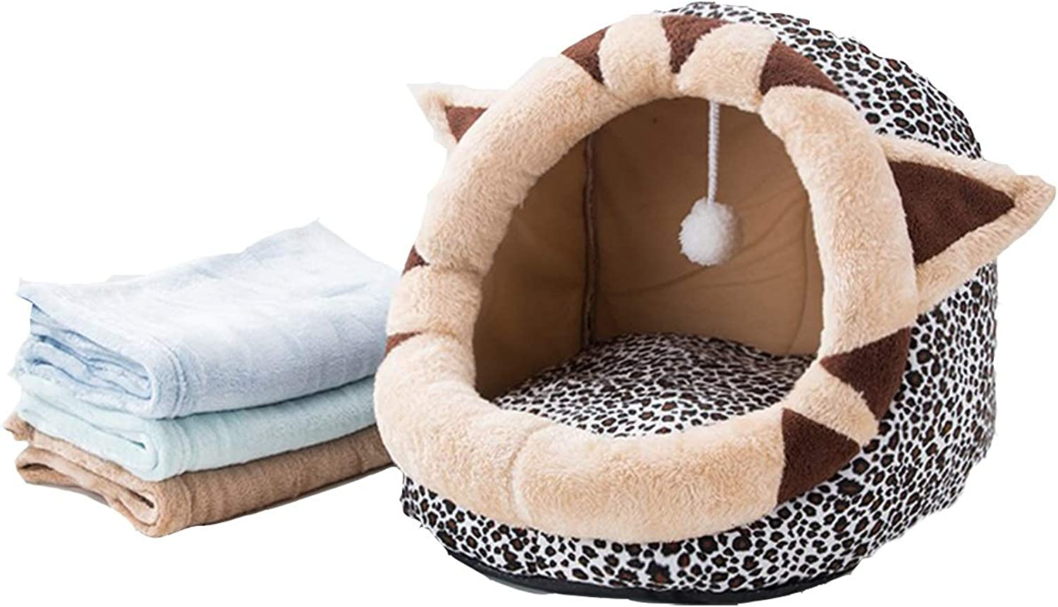 Cat Litter, Four Seasons Universal Closed Summer Cat House, Kennel, Cat Mat Washable, Summer Pet Supplies, Threedimensional Pet Nest, Sleep And Play One Fun Pet Nest, With Towels 2 Optional