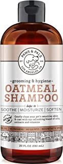 Paws & Pals Natural Oatmeal Dog Shampoo and Conditioner 2-in-1 Best for Cats & Dogs Dry Itchy Skin - Made in USA w/Medicated Clinical Vet Formula - Anti Itch Moisturizing Pet Soap for Sensitive Puppy