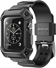 Apple Watch Band 42mm,SUPCASE [Unicorn Beetle Pro] Rugged Protective Shockproof Case Cover with Strap Bands for Apple Watch Series 3 2 1 Editon (Black)