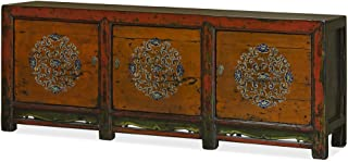 ChinaFurnitureOnline Elm Wood Cabinet, Vintage Tibetan Style