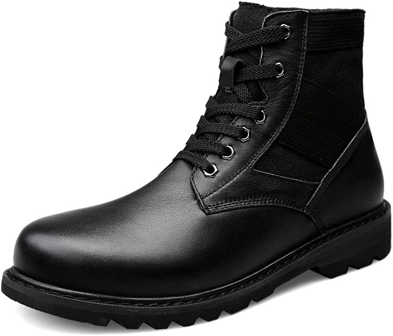 Mans skor, High -Top Plus sammet Keep Keep Keep Warm utomhus Bomull Fall  Winter läder Lace -Up Martin stövlar, B,39  outlet online butik