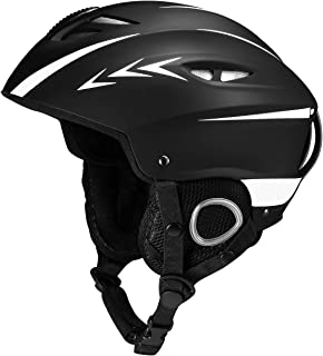OMORC Ski Helmet,ASTM Certified Safety Ski Helmet for Men,Women and Youth,Goggles&Audio Compatible and Lightweight Snow Helmet,Adjustable Venting,Dial Fit,Detachable Ear Flaps and Velvet Lining,M/L/XL