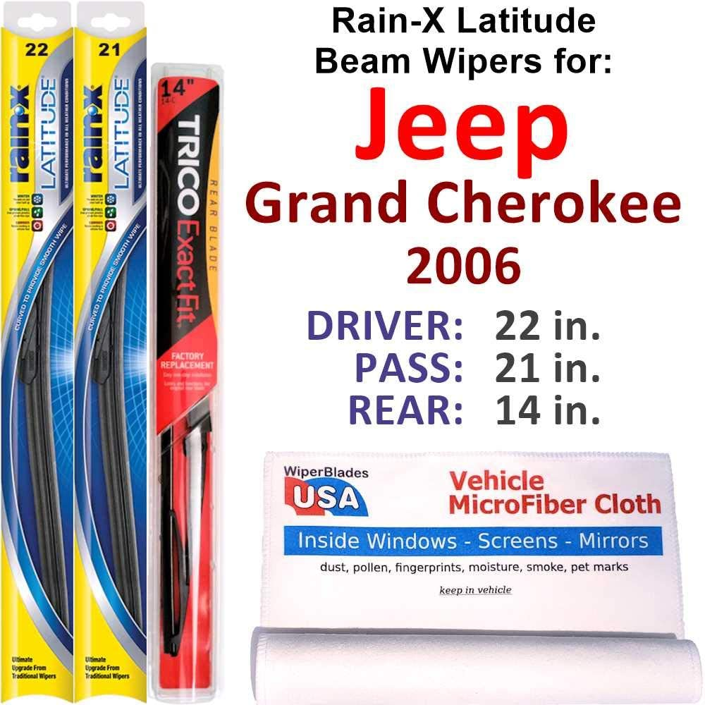 Rain-X 40% OFF Cheap Sale Latitude Beam Wipers for Limited price 2006 R w Jeep Set Grand Cherokee