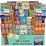 Healthy Snack Box Variety Pack Care Package (50 Count) Graduation 2021 Prime Gift Basket - College Student Crave Food Arrangement Nutritious Chips - Birthday Treat for Women Men Adult Kid Teens