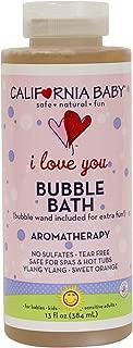 California Baby I Love You Bubble Bath | No Tear | Pure Essential Oils for Bathing | Hot Tubs, or Spa Use | Moisturizing Organic Aloe Vera and Calendula Extract |(13 fl. ounces)