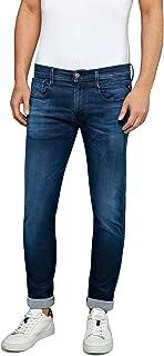 REPLAY Uomo Anbass Hyperflex Clouds Jeans, Blu