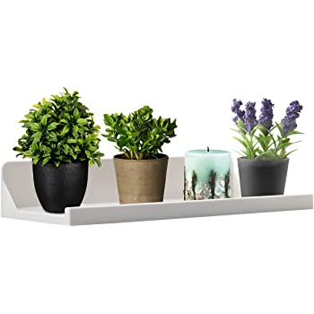 """OKOMATCH Window Sill Shelf-Window Organizer Rack Hanger Two Powerful Adhesive Stickers Installation-Hold Up to 15lbs-12.4""""x5.7""""x2.3""""-Good for Plants/Flowers/Herb Pots/Seed Starter-White"""