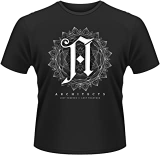 Architects T Shirt Lost Forever Lost Together Band Logo Official Mens Black