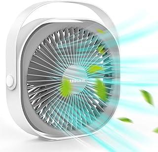 【2020最新改良版】卓上扇風機 usbファン 充電式 軽量 携帯 小型扇風機 静音 長時間連続使用 省エネ 角度調整可能 風量3段階調節 超大容量リチウム電池(内蔵)熱中症対策 オフィス 車内 寝室 など適用 大人向け