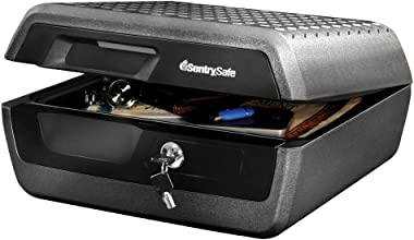 SentrySafe CHW30220 Fireproof Box and Waterproof Box with Key Lock 0.36 Cubic Feet