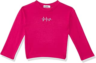 Giggles Front Stitched Detail Round Neck Long Sleeves Sweatshirt for Girls